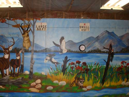 Harrison sportsmans club murals for Club joven mural